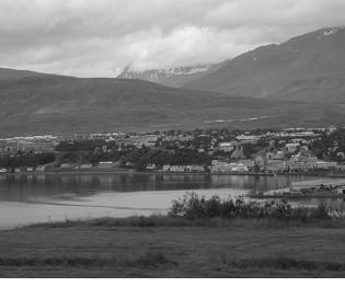 Paesaggio nei dintorni di Akureyri