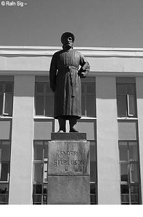 Statua di Snorri Sturluson a Reykjavik
