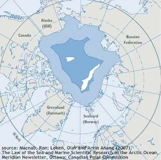 The EEZs and High Seas in the Arctic Ocean